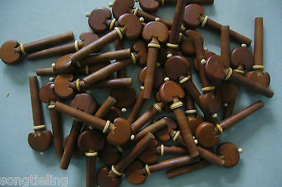 High quality 4/4Violin Fittings 100pcs (25 Sets) Jujube pegs,beauty bedeck