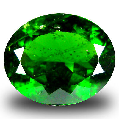 3.24 ct  Outstanding Oval Shape (11 x 9 mm) Green Chrome Diopside Gemstone