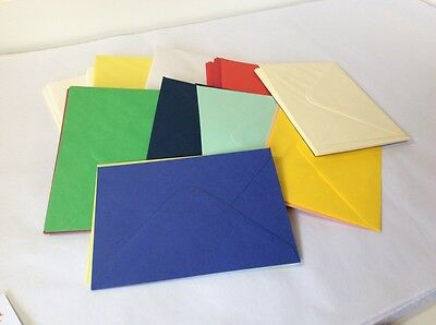 100 Coloured Envelopes - 16 x 11.5cm C6 - Card Making / Invites - Craft Clearout