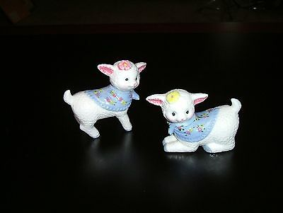 Ceramic Sheep With Bandanas And Flowers More Adorable Than Words Can Describe