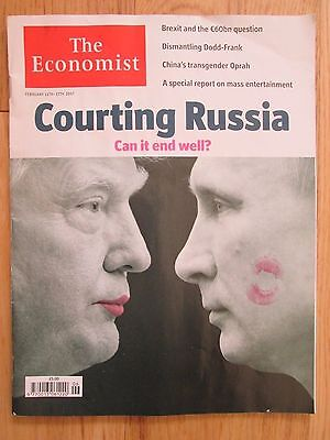 The Economist February 11th - 17th 2017. Courting Russia. Trump. Brexit. China
