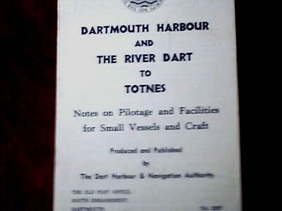 Dartmouth Harbour And The River Dart To Totnes[Instructive Booklet]1980S