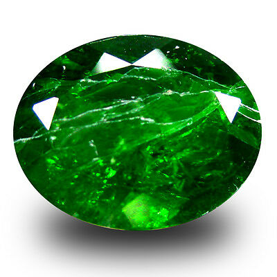 5.44 ct  Superior Oval Shape (12 x 9 mm) Green Chrome Diopside Natural Gemstone