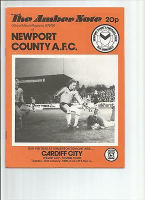Newport County V. Cardiff City 15.1.80 Welsh Cup