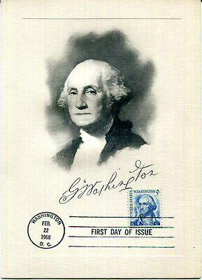 George Washington 1966 presentation card FDC
