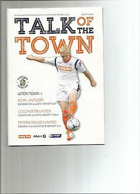 Luton V. Colchester, Peterborough, Royal Antwerp 2014 Pre Season Friendlies