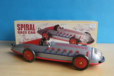Modern Boxed Schylling Collector Series Tinplate Spiral Race Car Wind up Motor