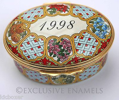 Halcyon Days Enamels A Year To Remember 1998 Enamel Box