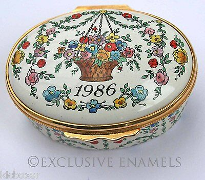 Halcyon Days Enamels A Year To Remember 1986 Enamel Box