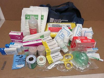 Zee Medical First Responder Kit Bag w/ Bandages, Gauze, Airway Mask Etc.