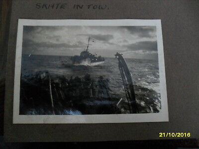 HMS/ ROYAL NAVY old vintage WW2 real photos x 9;