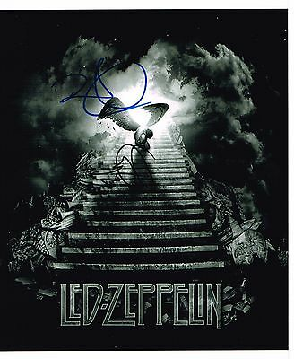 Led Zeppelin Page & Plant Hand Signed Autographed 10 x 8 Glossy Artwork Picture