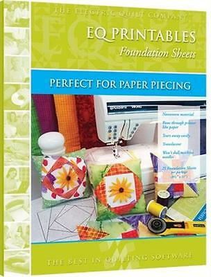 EQ Electric Quilt Printables Foundation Sheets 25 Pack