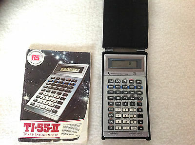 TEXAS INSTRUMENTS TI-55-11 SCIENTIFIC CALCULATOR with user booklet