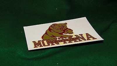 vintage MONTANA GRIZZLES water decal