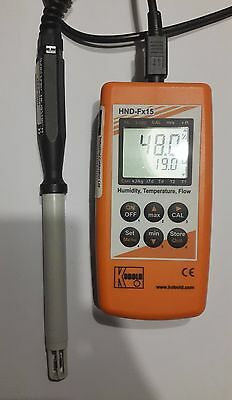 Kobold HND FX15 Digital Hand-Held humidity, temperature, flow meter with probe