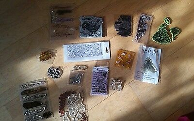 craft bundle clear out unmounted stamps 30+