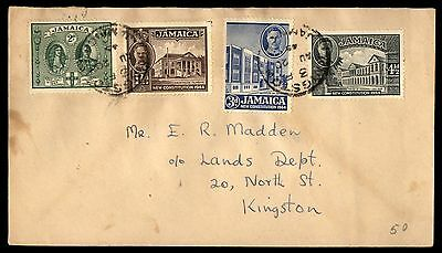 JAMAICA 1945 KINGSTON AUG 20TH TO KINGSTON 4 Stamps COVER