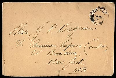 Great Britain 1941 Fpo 141 Dec 19Th To Ny Usa   Cover