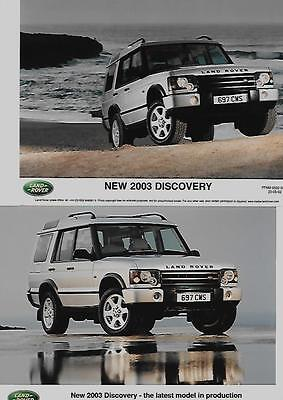 Three Land Rover Discovery Original Press Photo 'brochure Connected' For 2003