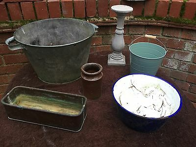 Shabby Chic style Job Lot Vintage Items For Garden