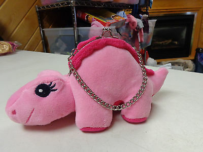 Gymboree Outlet Pink Plush Dinosaur Shaped Girls  Purse 4 All Ages   Lnw