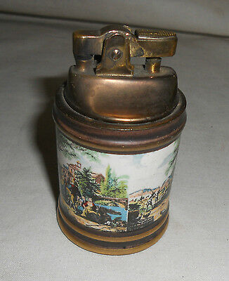 VINTAGE Traditional DECORATIVE Table Lighter Made in Italy Multi Colour Picture