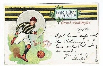 "Old Football Postcard Partick Thistle The Glasgow Teams "" Premier "" Series 1904"