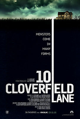 10 Cloverfield lane movie poster A4 size