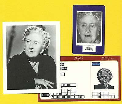 Agatha Christie Mary Westmacott Novelist Fab Card LOT Murder on  Orient Express