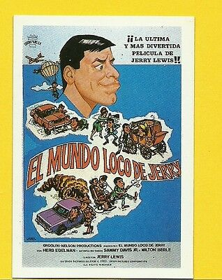 Jerry Lewis Vintage 1984 Spanish Movie Film Collector Card
