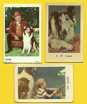 Lassie the Dog TV series Vintage 1960s Cards from Sweden LOT I
