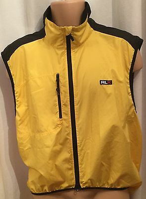 Polo Sport By Ralph Lauren Mens Yellow & Black Cycling Top Size L