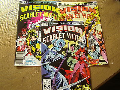 Vision and the Scarlet Witch #1 #2 #4 Set Marvel Comics