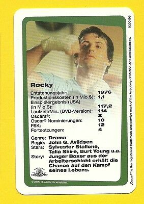 Sylvester Stallone ROCKY Boxing Card from Germany