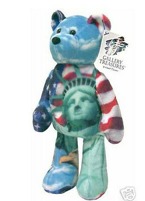 "9"" Patriotic Plush Teddy Bear Collectible Limited Treasure Plush Bear - Freedom"