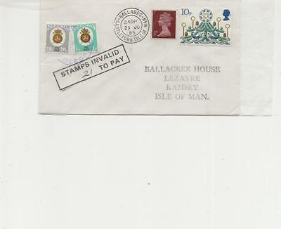 Isle of Man 1985 Ballabeg to Ramsey Postage Due Cover