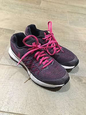 Nike Pink Black Sport Shoes Trainers Uk 3.5 Eur 36