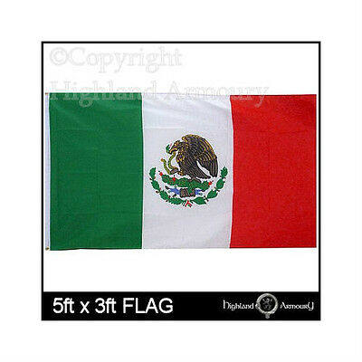 5' x 3' Mexico Mexican National Flag Football Large Flags New
