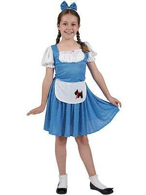 Child Country Girls Costume Fancy Dress Childrens Book Week Wizard Of oz Dorothy