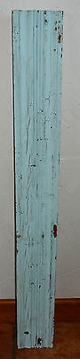 Vintage Architectural Salvage Painted Chippy Blue Wood Board Trim #1