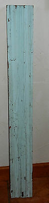 Vintage Architectural Salvage Painted Chippy Blue Wood Board Trim #2