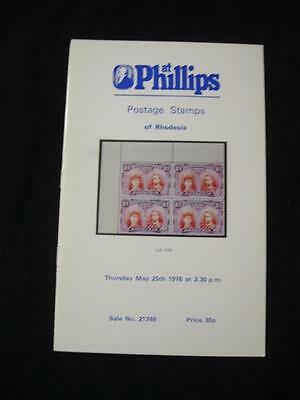 Phillips Auction Catalogue 1978 Rhodesia
