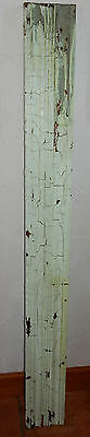 Vintage Architectural Salvage Painted Chippy Green Wood Board Trim #3