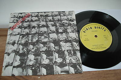 Stiff Little Fingers Suspect Device PLAYS EX!! YELLOW RIGID DIGITS 1978 UK 7""