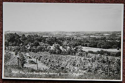 View from Heathfield towards Mayfield Vintage Photographic Postcard East Sussex