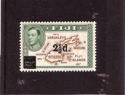 Fiji 1941 - SGNo.267 M/Mint 2 1/2d. on 2d. Brown & Green - Nice Stamp