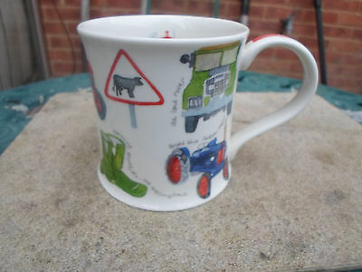"""Dunoon """" On The Move """" Tractor design Mug"""