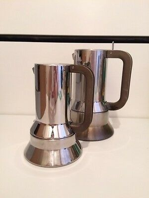 RICHARD SAPPER for ALESSI SET OF 2 COFFEE MAKERS MODEL 9090 MOMA NEW YORK OFFER
