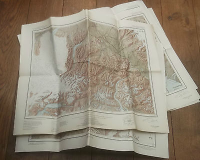 Alaska, Reconnaissance Topographic Series, 6 Sheets Folded, 1948-1956